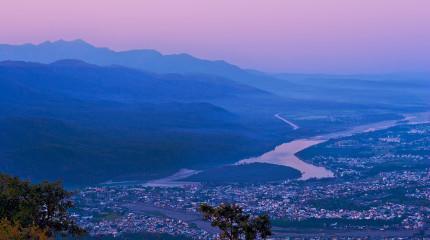 Dawn over Hrishikesh
